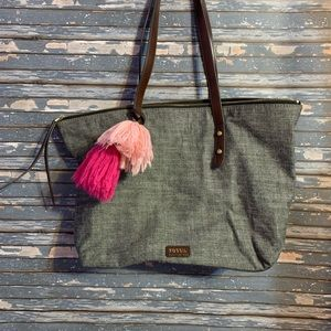 Fossil gray cloth bag